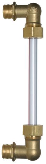Wasserstandsanzeiger/Ölstandsanzeiger ohne Absperrung, Gewindeanschluß 1/2